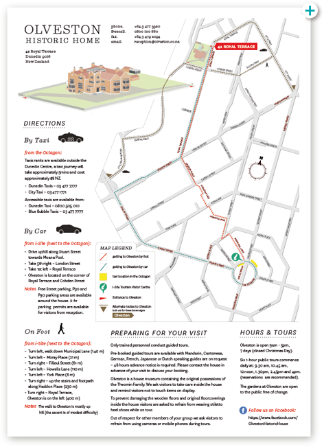 Map of Olveston House.
