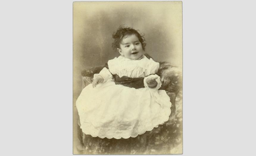 Edward Theomin as a baby.