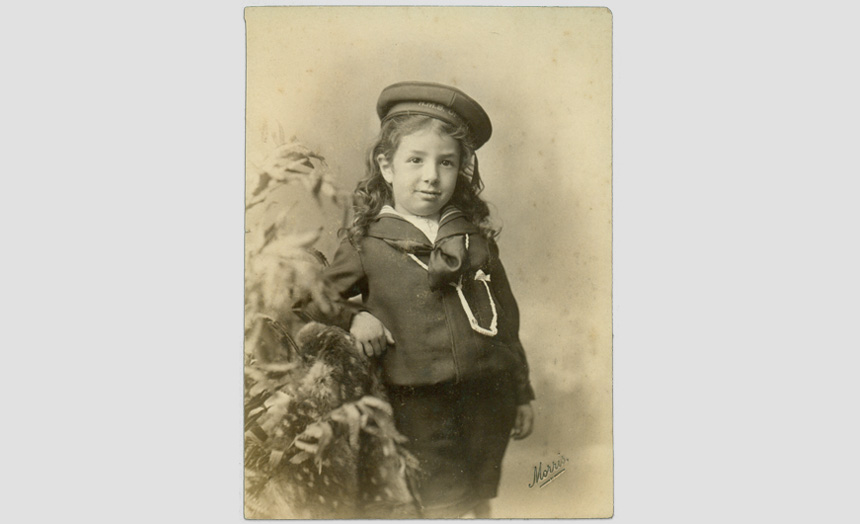 Edward Theomin as a child.