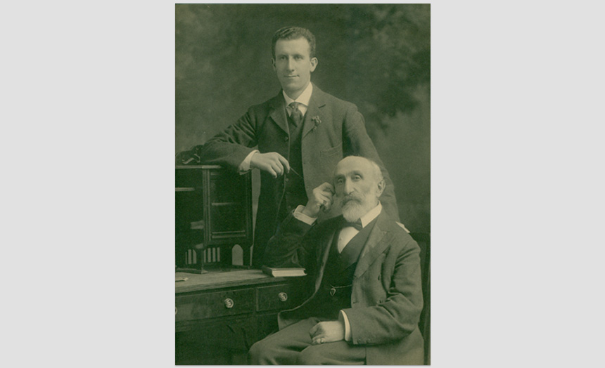 Abraham Benjamin and his son, Lionel (Mr Theomin's brother and nephew).